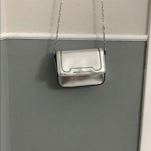 Silver Armani Exchange Bag